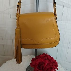 Vince Camuto Tal Flap Saddle Bag in Creamy Carmel